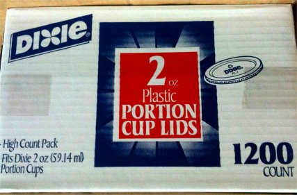 Dixie 2 oz. Portion Cup Lids (Souffle Cup Lids/Jello Shot)-1200