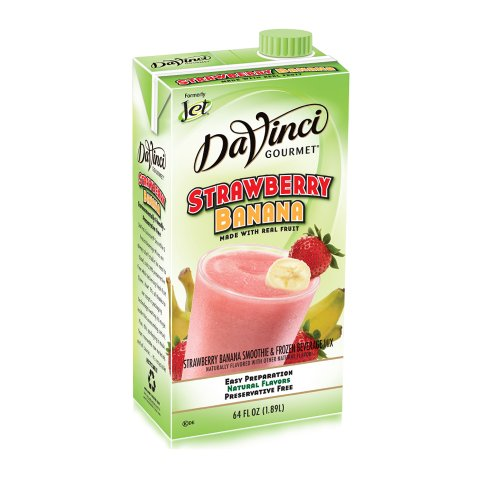 Da Vinci Strawberry Banana Smoothie Mix, 64 oz