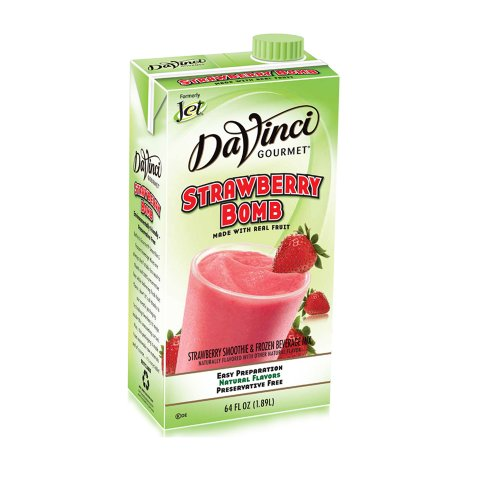 Da Vinci Strawberry Bomb Smoothie Mix, 64 oz