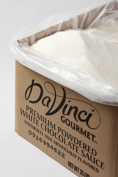 Da Vinci Premium Powdered White Chocolate Sauce, 25 lb Box
