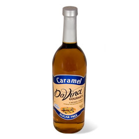 Da Vinci SUGAR FREE Caramel Syrup with Splenda, 750 ml
