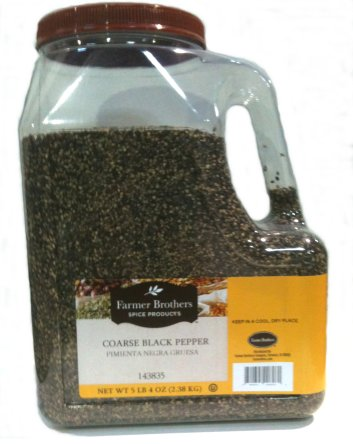 Farmer Brothers Black Pepper - Coarse, 5 lb 4 Oz