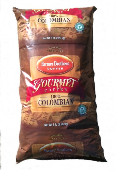 Farmer Brothers 100% Colombian Coffee, 5 lb Ground