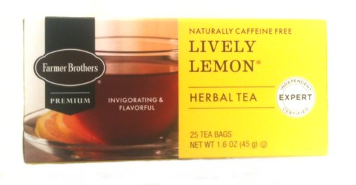 Farmer Brothers Lively Lemon Tea - Caffeine Free, 25 bags