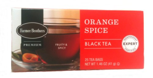 Farmer Brothers Orange Spice Black Tea, 25 bags