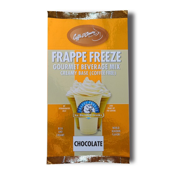 Caffe D'Amore Frappe Freeze Chocolate Freeze Base Mix (Coffee Free) - 3 lb Bag