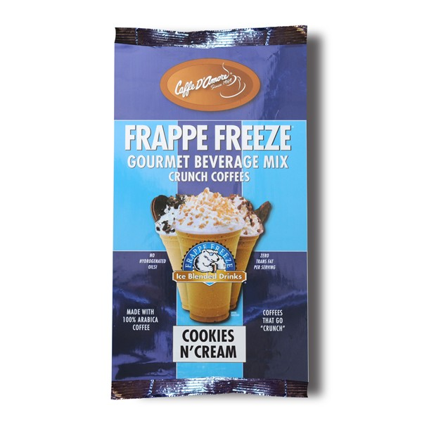Caffe D'Amore Frappe Freeze Cookies 'N' Creme Crunch Coffee Mix - 2.75 lb Bag