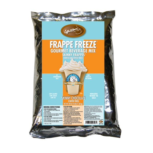 Caffe D'Amore Frappe Freeze Skinny Chocolate Freeze -Base Mix- 3 lb Bag