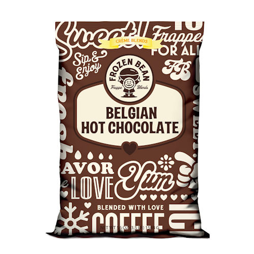Frozen Bean Belgian Hot Chocolate Beverage Mix - 3.5 lb Bag