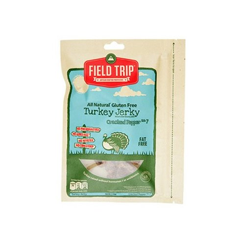 Field Trip Jerky All Natural Gluten Free Cracked Pepper No. 7 Turkey Jerky - 1 oz