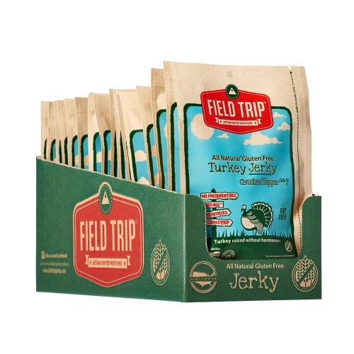 Field Trip Jerky All Natural Gluten Free Cracked Pepper No. 7 Turkey Jerky-1 oz Case