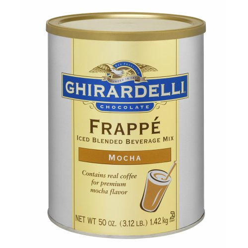 Ghirardelli Mocha Frappe Mix (contains coffee), 3.12 lb Can