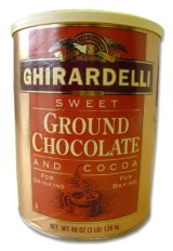 Ghirardelli Sweet Ground Chocolate and Cocoa Powder, 3.12 lb Can