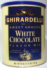 Ghirardelli Sweet Ground White Chocolate & Cocoa Powder, 3.12 lb Can
