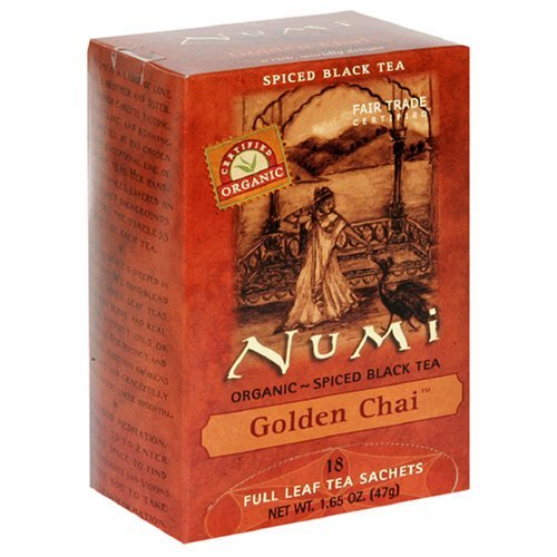 Numi Golden Chai - Spiced Assam Black Tea, 18 Tea Bags