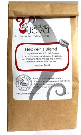 Jackie's Java HEAVEN'S BLEND Roasted Coffee, Medium Roast