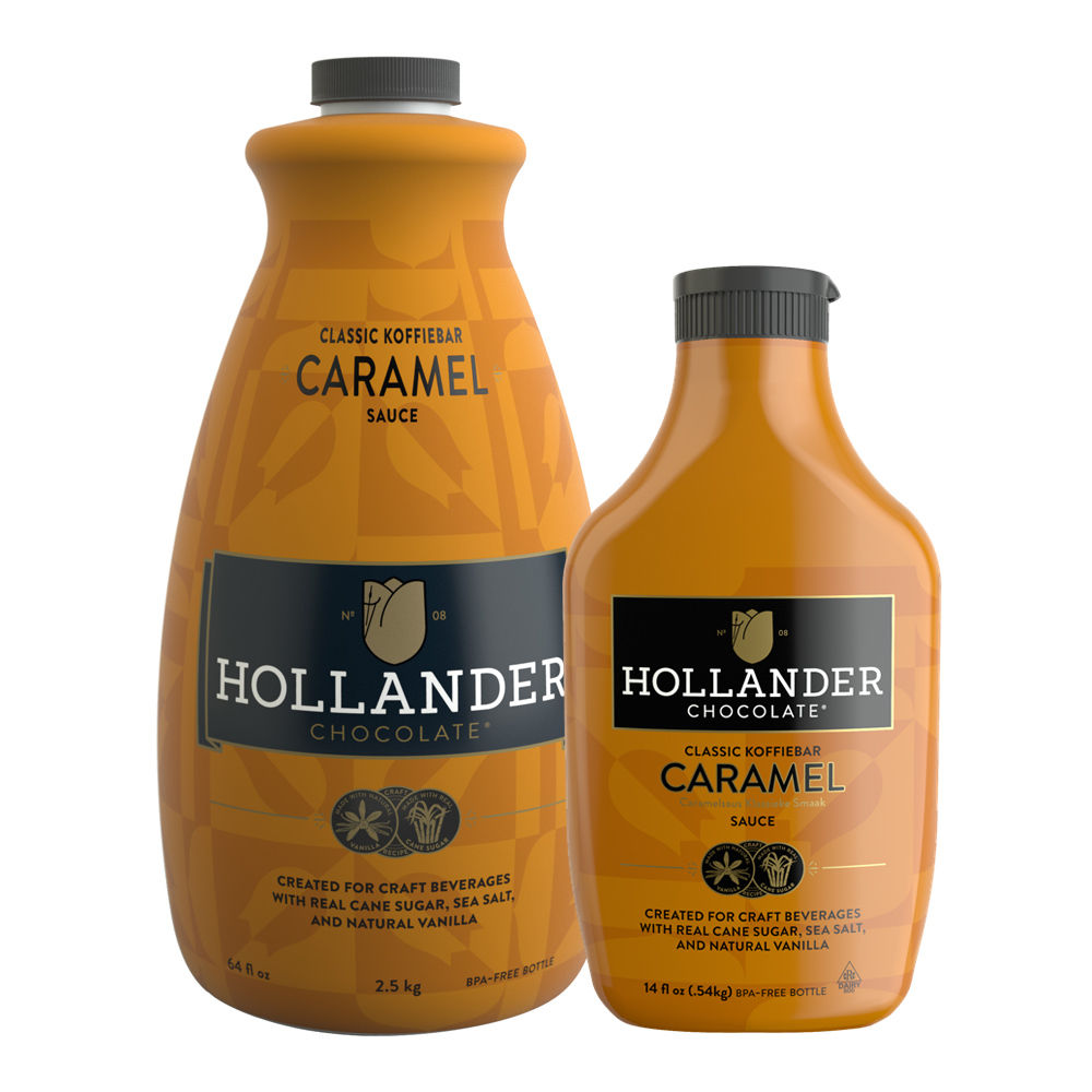 Hollander Chocolate Caramel Sauce, 14 oz Squeeze Bottle