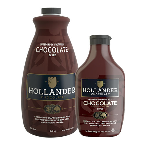 Hollander Chocolate Sweet Ground Chocolate Sauce, 14 oz Squeeze Bottle