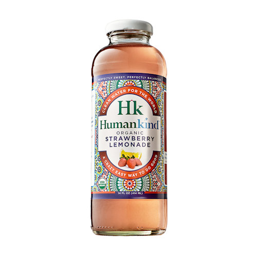 HumanKind Strawberry Lemonade- Organic, Case of 12 bottles - 14 oz each