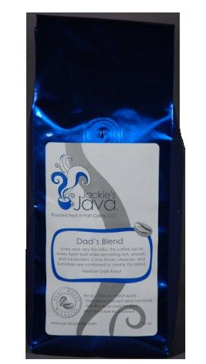 Jackie's Java DAD'S BLEND Coffee, Med/Dark Roast