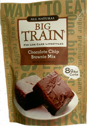 Big Train Low Carb Chocolate Chip Brownie Mix: 11 oz. Bag-Case of 6