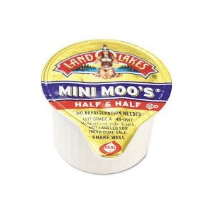 Land O Lakes Mini-Moo's Creamers, Real Dairy Half & Half, 180 Ct