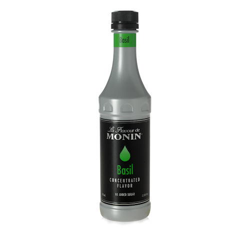 Monin Basil Concentrated Flavor, 375 ml bottle