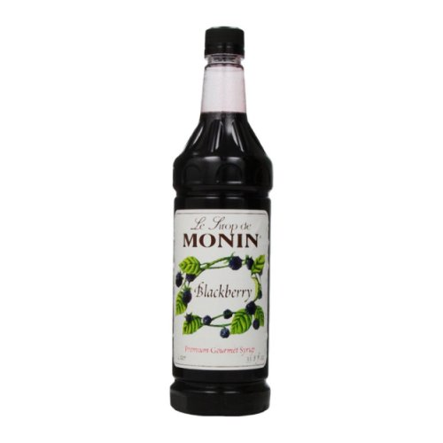 Monin Blackberry Syrup, 1 liter bottle PET