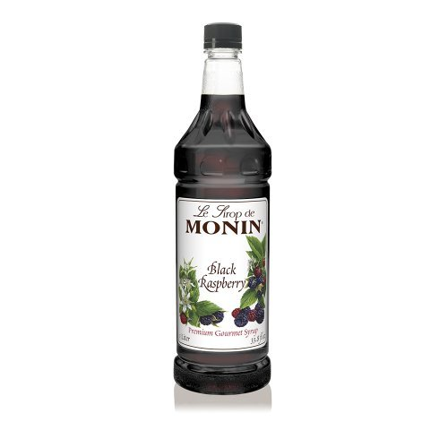 Monin Black Raspberry Syrup,1 liter bottle PET