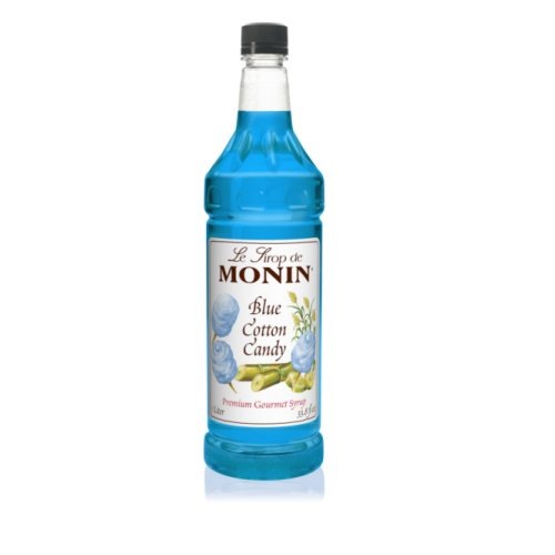 Monin Blue Cotton Candy Syrup, 1 liter bottle PET