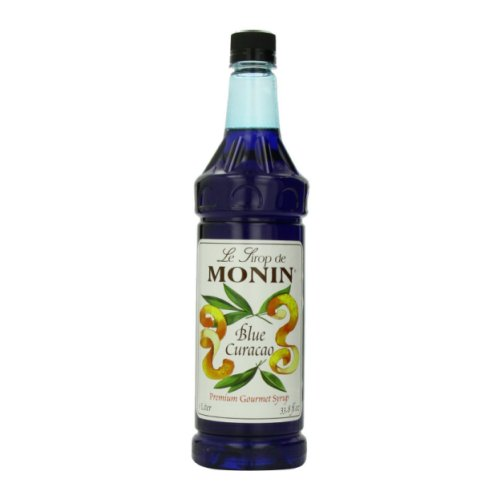 Monin Blue Curacao Syrup, 1 liter bottle PET