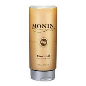 Monin Caramel Sauce, 12 oz Squeeze bottle