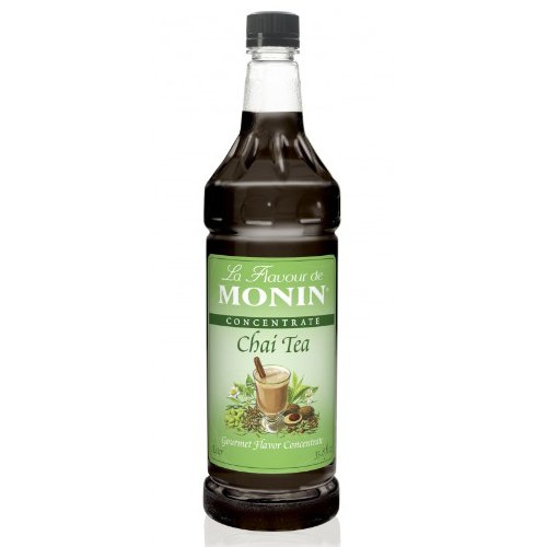 Monin Chai Tea Concentrate, 1 liter bottle PET
