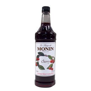 Monin Cherry Syrup, 1 liter bottle PET Plastic